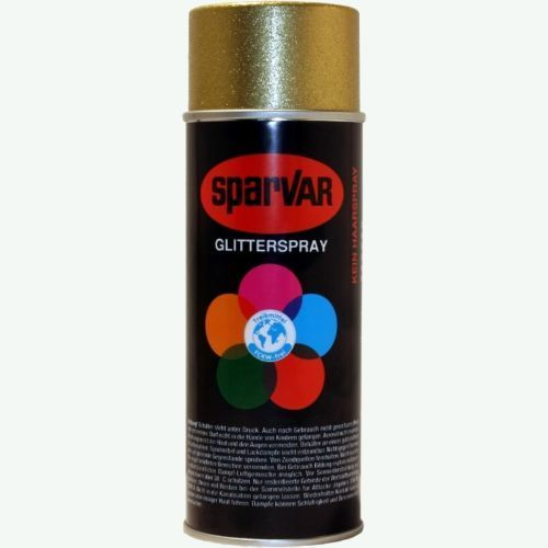 Glitterspray Gold, Goldspray, Deko Spray, Glitterfarbe, 400 ml Sprühdose