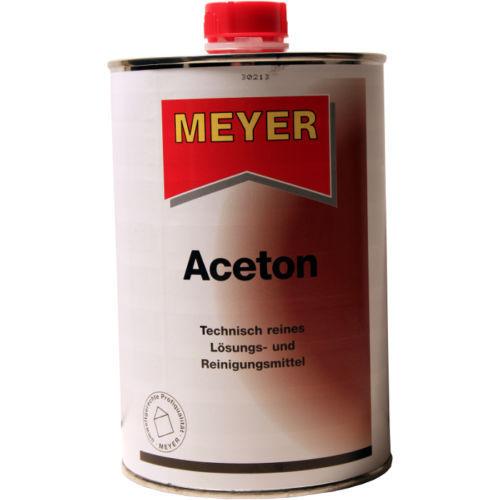 Top Meyer Aceton, Reinigungsmittel, Lösemittel, Verdünnung, 1 Liter G SE46